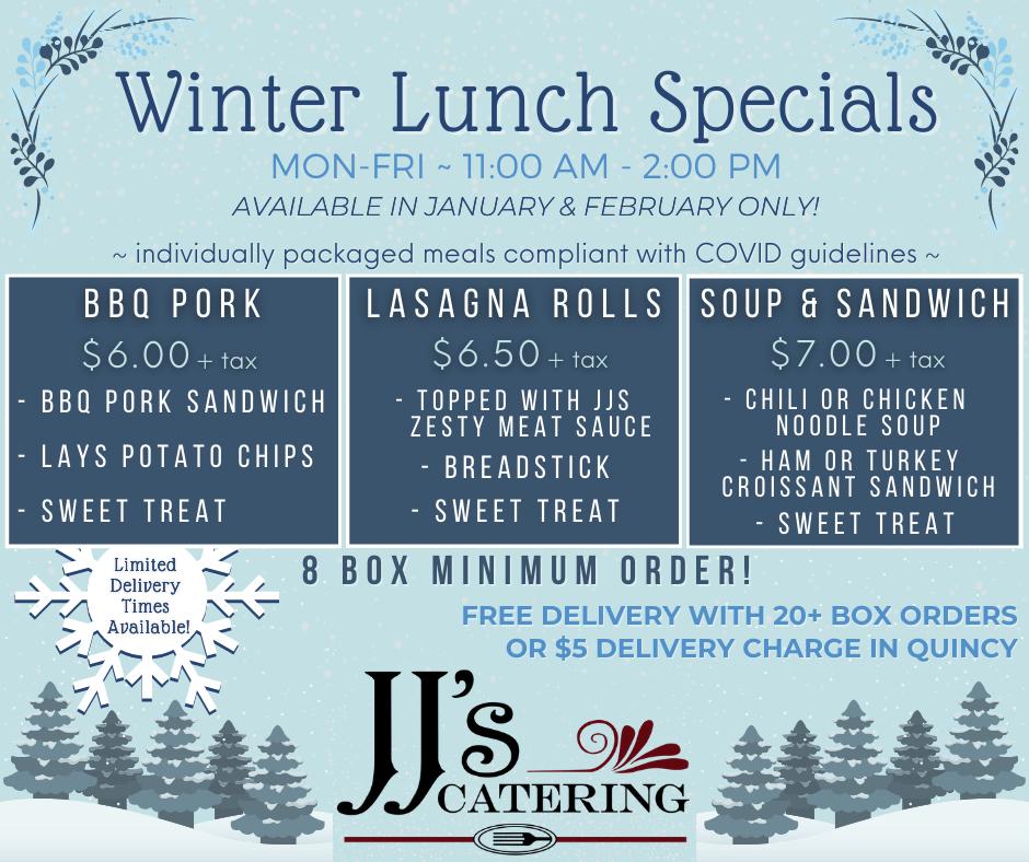 Winter Lunch Specials 2021
